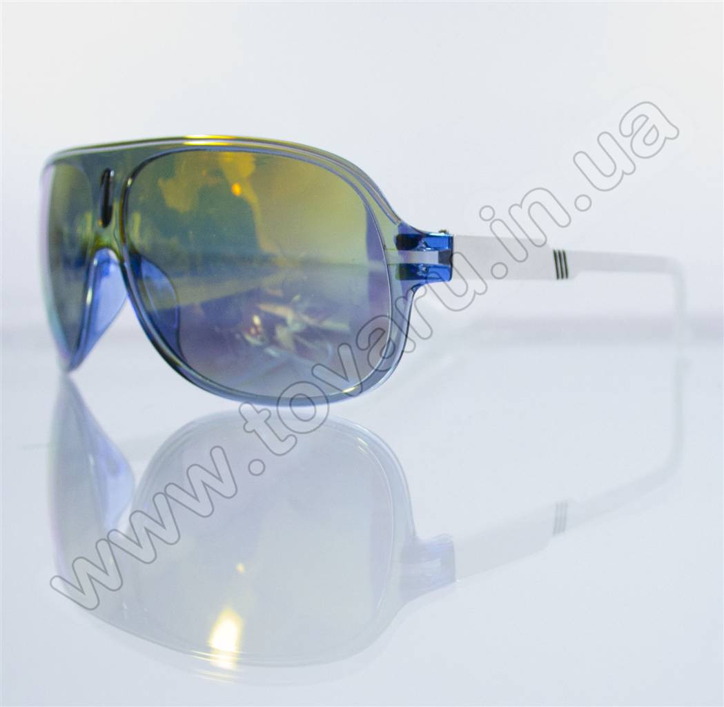 Оптом Очки унисекс солнцезащитные - Сине-белые (зеркальные) - B-59