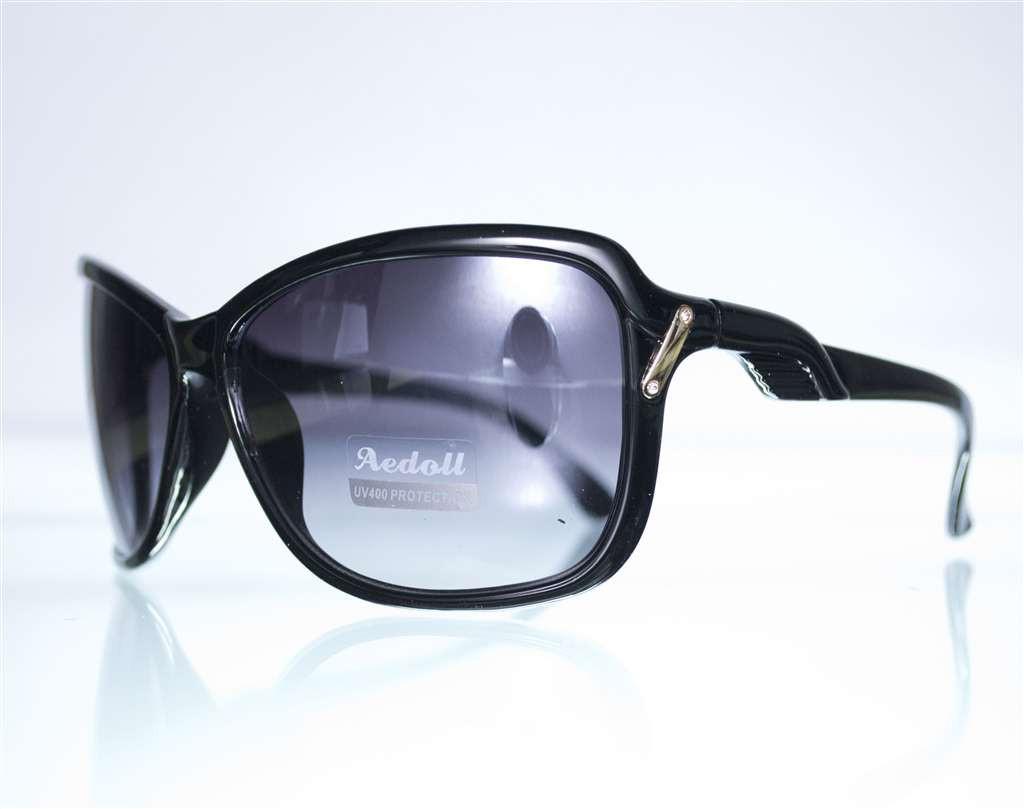 Оптом Очки женские солнцезащитные - Черные - 567