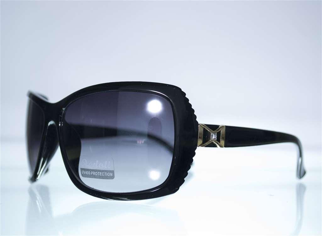 Оптом Очки женские солнцезащитные - Черные - 559