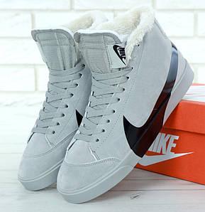 Зимние мужские кроссовки Nike Blazer Mid Winter с мехом