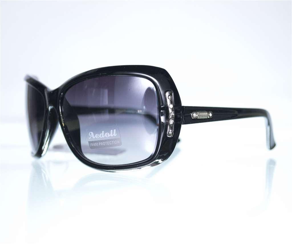 Оптом Очки женские солнцезащитные - Черные - 575