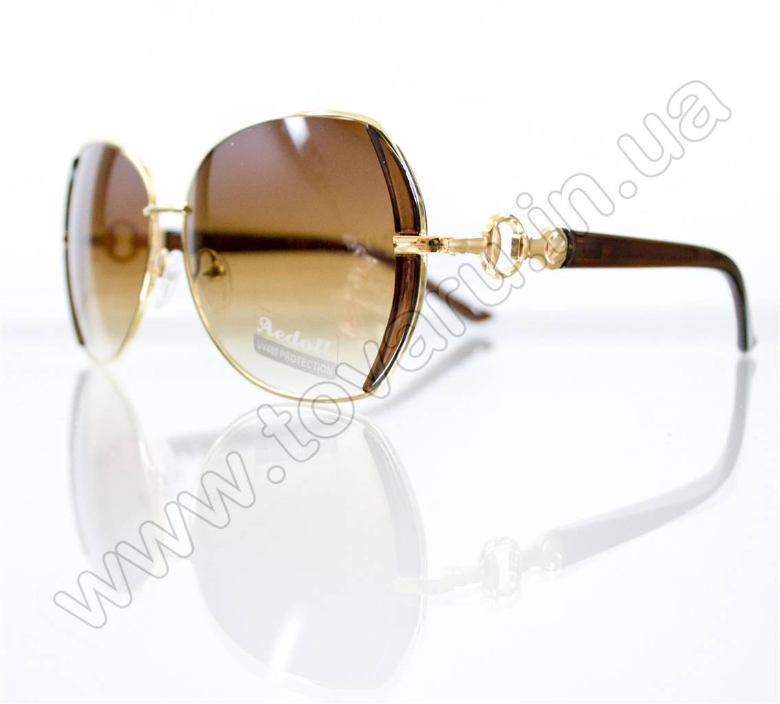 Оптом Очки женские солнцезащитные - Коричневые - S522