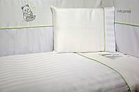 """Защита (бампер) Veres """"Cute Panda white"""" 4 единицы"""