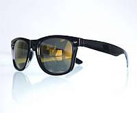 Оптом Очки унисекс Вайфарер бензиновые солнцезащитные - Черные - W1, фото 1