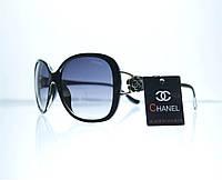 Оптом Очки женские Chanel солнцезащитные - Черные - 8309, фото 1