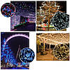 Новогодняя гирлянда 1000 LED, Длина 67m, Белый теплый свет,Кабель 2,2 мм, фото 7