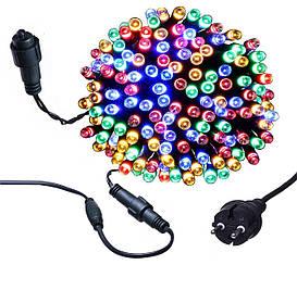 Новорічна гірлянда 1000 LED, Довжина 67m, Мультиколор, Кабель 2,2 мм