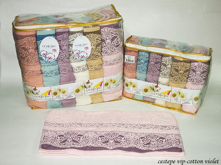 Набор полотенец Cestepe Vip Cotton Violet 50х90 6шт