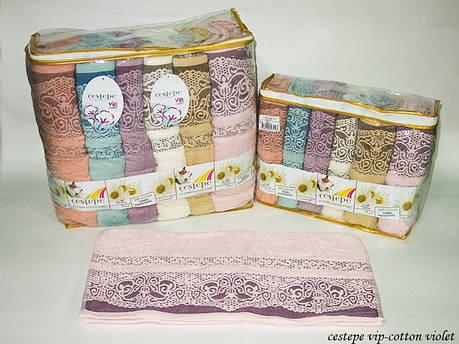 Набор полотенец Cestepe Vip Cotton Violet 50х90 6шт, фото 2