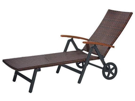 Пляжный-садовый лежак BROWN 192x74 см, фото 2