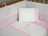 """Защита (бампер) Veres """"Sweet Bear pink"""" 4 единицы"""