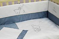 """Защита (бампер) Veres """"Sweet Dreams blue"""" 4 единицы"""