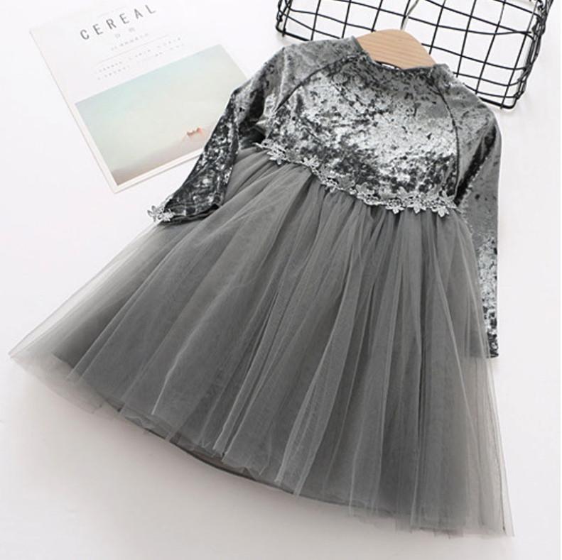 Платье нарядное детское  на девочку велюровое на 2 года