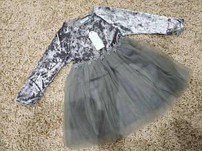 Платье нарядное детское  на девочку велюровое на 2 года, фото 2