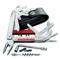 Victorinox Викторинокс нож мультитул Swisstool Plus 38 предметов 115 мм чехол черная кожа