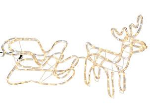 """Новогодняя скульптура """"Олень"""" Длина набора 140 см, фото 3"""