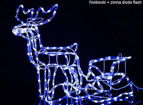 """Новогодняя скульптура """"Олень"""" Длина набора 140 см, фото 2"""