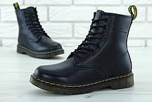 Зимние женские ботинки dr.martens black. ТОП Реплика ААА класса., фото 3