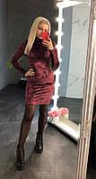 Женское бархатное платье-гольф (5 цветов), фото 1
