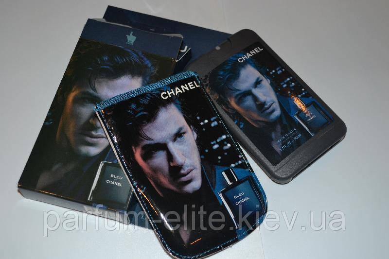 Мужской пробник духов в стильном чехле Chanel Blue De Chanel Man 50ml