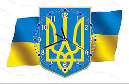 Часы настенные символика Украины, герб, флаг