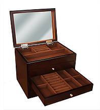 Шкатулка для ювелирных украшений бижутерии Коричневая , фото 3