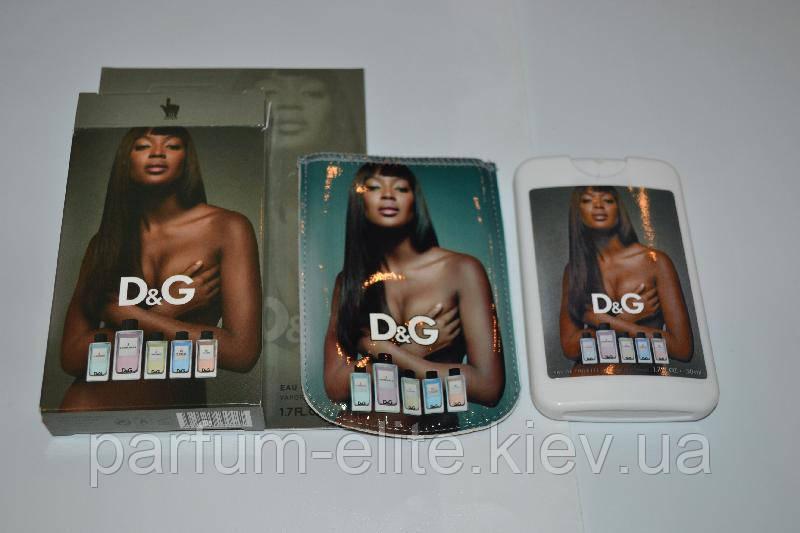 Женский мини-парфюм в изысканном чехле Dolce&Gabbana 3 L'imperatrice 50ml