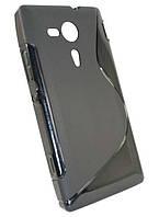 Чехол-накладка Sony Xperia SP (C5302 / C5303) черная силиконовая