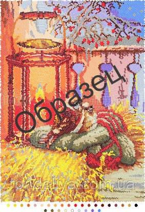 Схема для вышивки бисером «Воробьи»