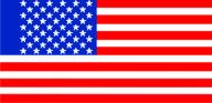 Флажок США шелк, 10х20см