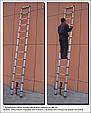 Лестница телескопическая алюминий 2.6 м, фото 5