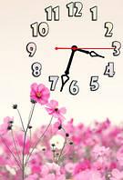 """Часы-картина """"Нежный цветок"""" 30х45 см красивый подарок на 8 Марта"""