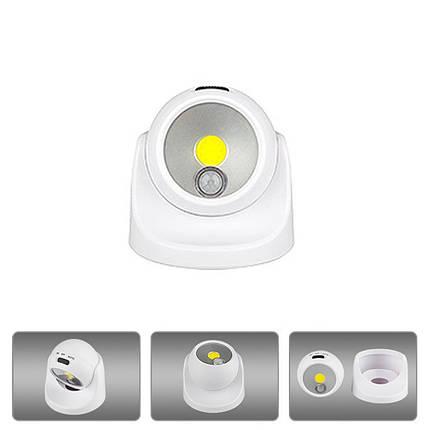 Батарея Питание / USB аккумуляторная 360 градусов вращения COB PIR Движение Датчик Night Wall Light Home - 1TopShop, фото 2