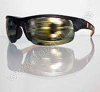 Очки мужские солнцезащитные спортивные - Черно-оранжевые - 9890