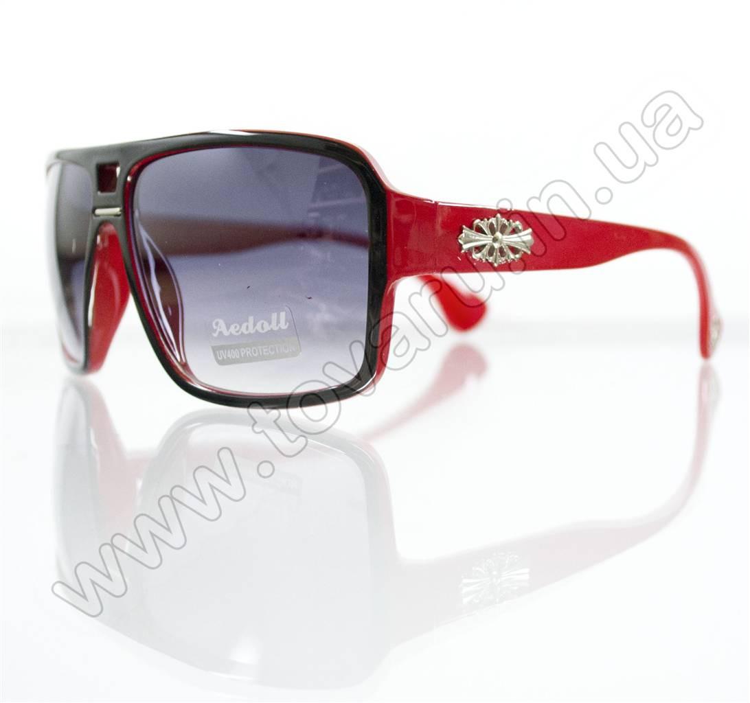 Очки унисекс солнцезащитные - Черно-красные - 295