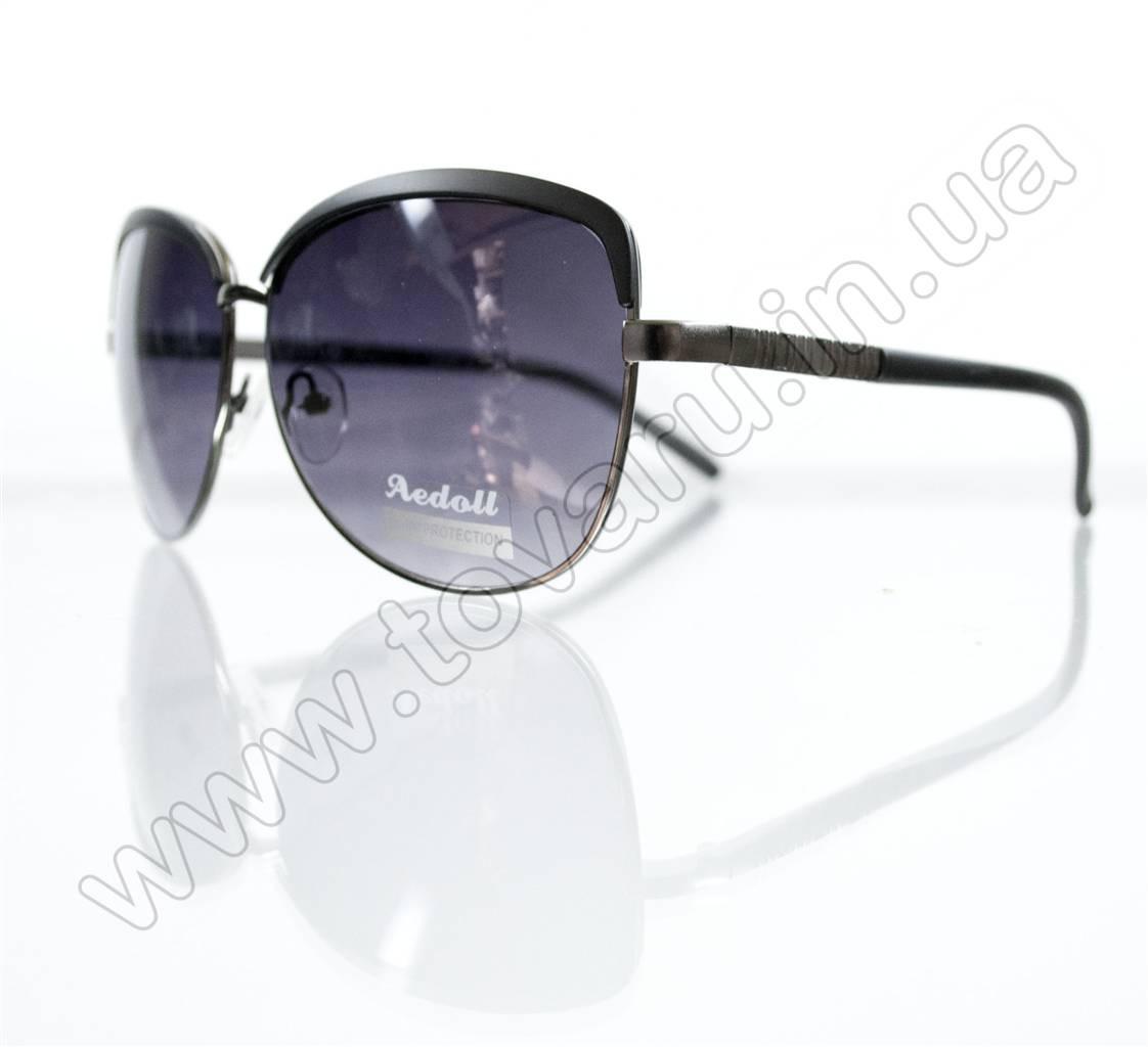 Очки женские солнцезащитные - Черные - 5618