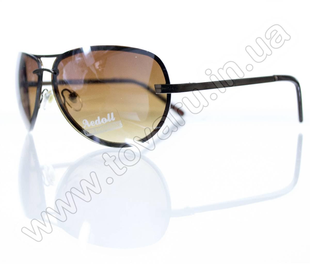 Очки унисекс солнцезащитные - Коричневые - 09004, фото 1