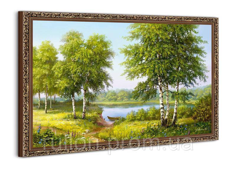"""Картина YS-Art BA003B """"Берёзы и лодка"""" 50x70"""