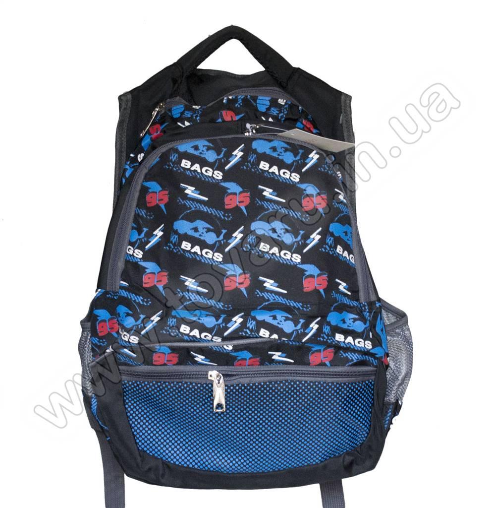 652 - Рюкзак подростковый - Черно-синий