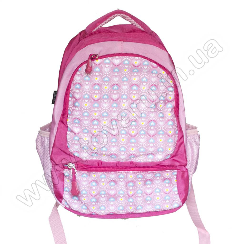 1067 - Рюкзак сердечки - Розовый