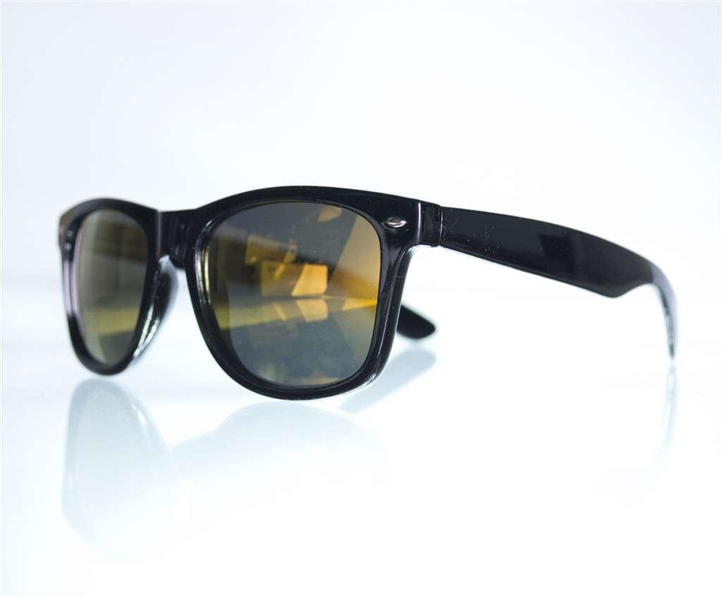 Очки унисекс Вайфарер бензиновые солнцезащитные - Черные - W1