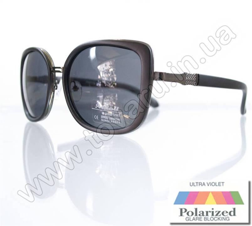 Очки женские солнцезащитные поляризационные - Черные - P5621, фото 2