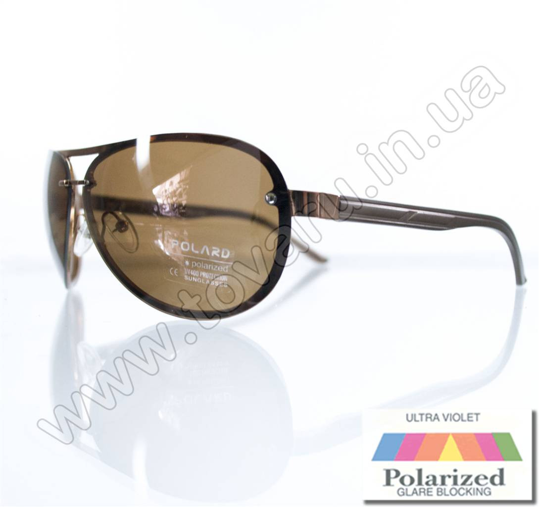 Очки унисекс солнцезащитные поляризационные - Коричневые - P08004