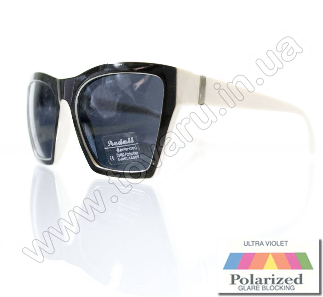 Очки женские солнцезащитные поляризационные - Черно-белые - P6613