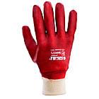 Перчатки трикотажные с ПВХ покрытием (красные манжет) 120 пар Sigma (9444371), фото 2