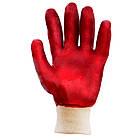 Перчатки трикотажные с ПВХ покрытием (красные манжет) 120 пар Sigma (9444371), фото 3
