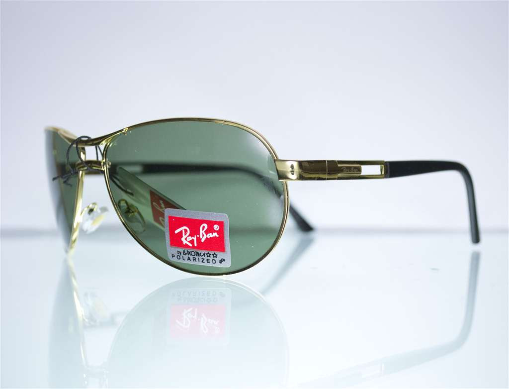 Очки Ray-Ban Aviator солнцезащитные - Золотые - 8125