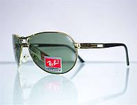 Очки Ray-Ban Aviator солнцезащитные - Золотые - 8125, фото 1