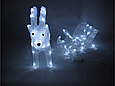 Новогодняя акриловая статуя оленень с санками, Светящиеся новогодние олени 70 LED, фото 3