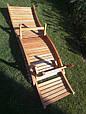 Деревянный лежак - шезлонг ERGO (дерево черешня), фото 6